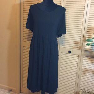 J. Jill Black silky soft dress with pockets